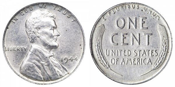 1944 Steel Lincoln Wheat Cent Penny