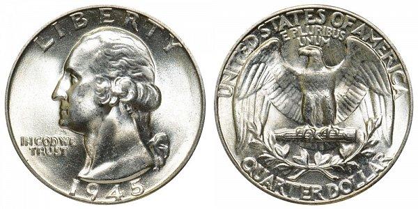 1945 Washington Silver Quarter