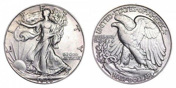 1946 D Walking Liberty Silver Half Dollar