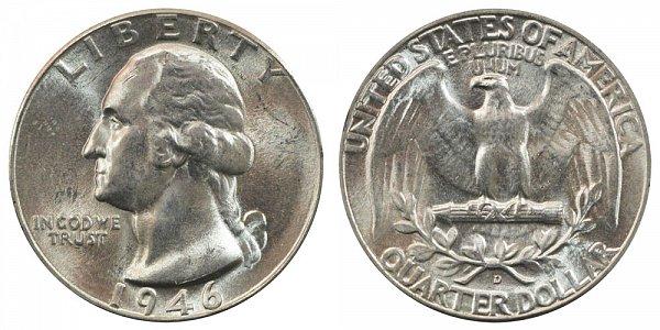 1946 D Washington Silver Quarter