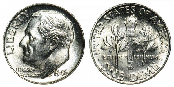 1946 Silver Roosevelt Dime