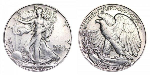 1946 S Walking Liberty Silver Half Dollar