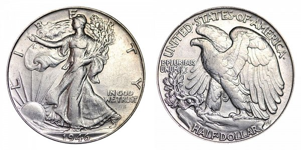 1946 Walking Liberty Silver Half Dollar