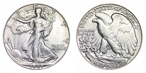 1947 D Walking Liberty Silver Half Dollar