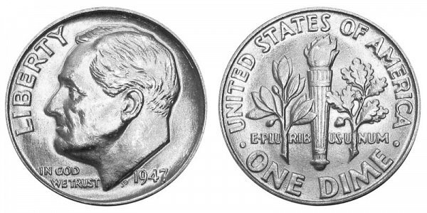 1947 Silver Roosevelt Dime