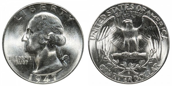 1947 S Washington Silver Quarter