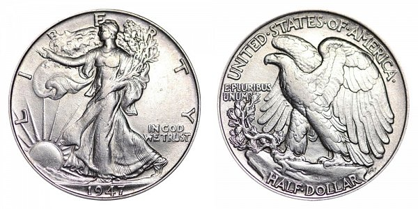 1947 Walking Liberty Silver Half Dollar