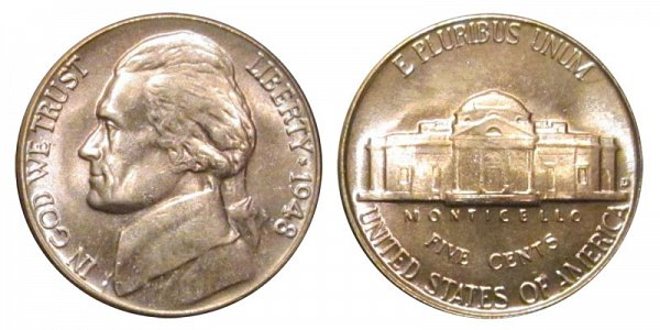 1948 D Jefferson Nickel