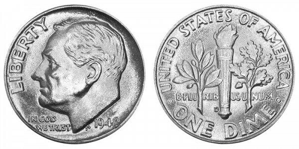 1948 D Silver Roosevelt Dime