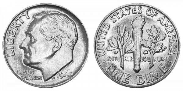 1948 Silver Roosevelt Dime