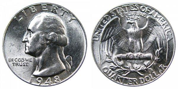 1948 Washington Silver Quarter