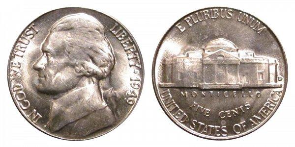 1949 D Jefferson Nickel