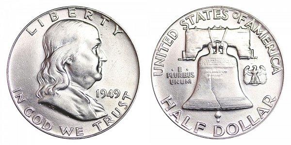 1949 Franklin Silver Half Dollar