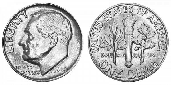 1949 Silver Roosevelt Dime