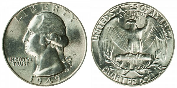1949 Washington Silver Quarter