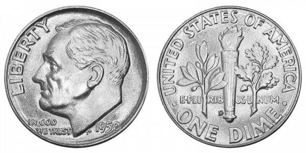 1950 D Silver Roosevelt Dime