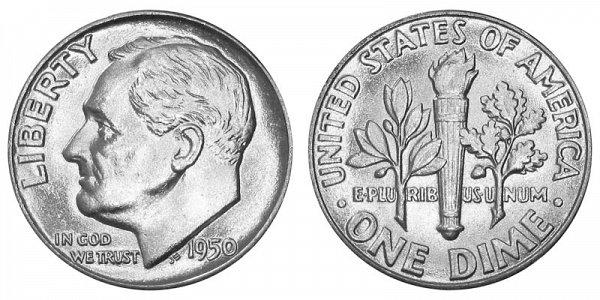 1950 Silver Roosevelt Dime