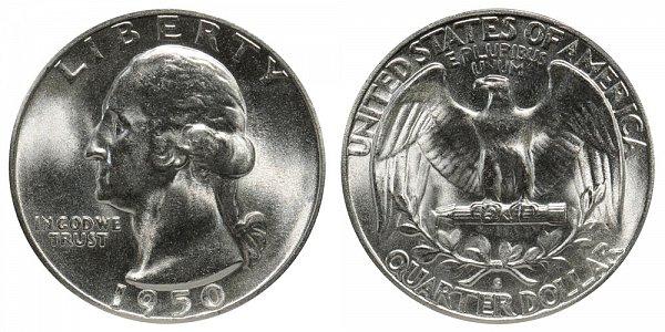 1950 S Washington Silver Quarter