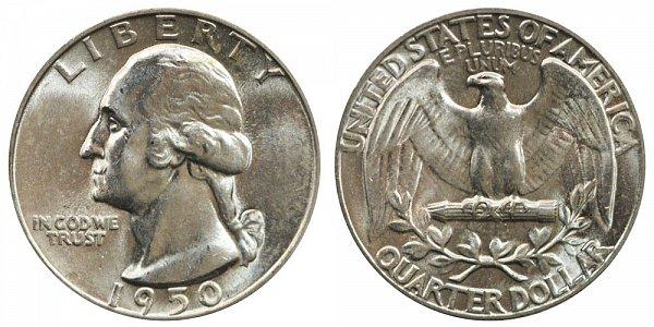 1950 Washington Silver Quarter