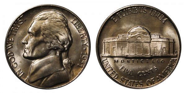 1951 D Jefferson Nickel