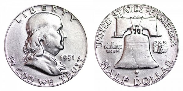 1951 Franklin Silver Half Dollar