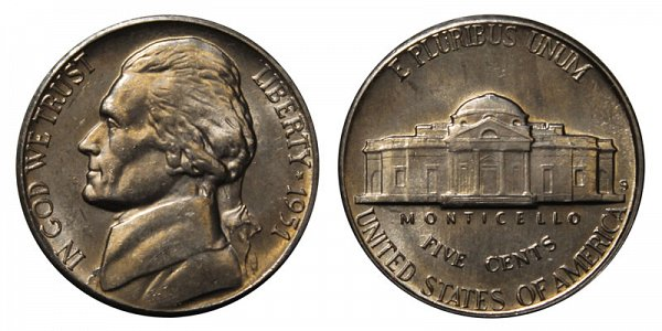 1951 S Jefferson Nickel