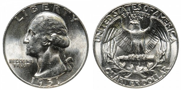 1951 Washington Silver Quarter