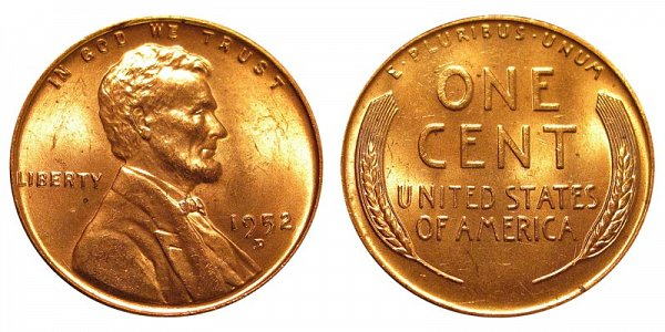 1952 D Lincoln Wheat Cent Penny