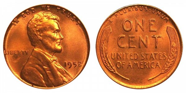 1952 Lincoln Wheat Cent Penny