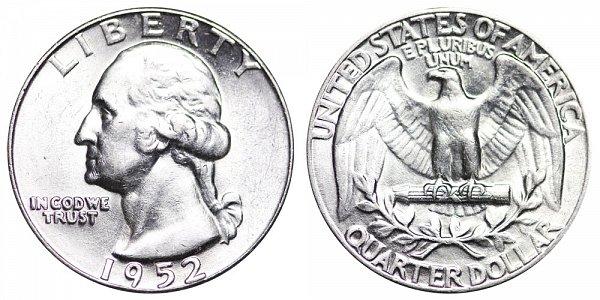1952 Washington Silver Quarter