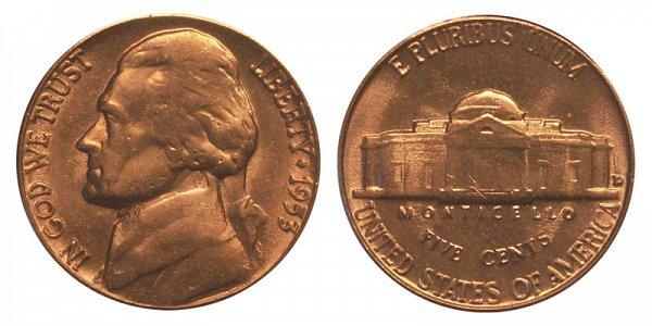 1953 D Jefferson Nickel