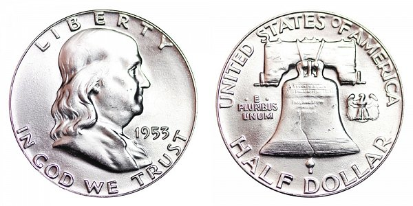 1953 Franklin Silver Half Dollar