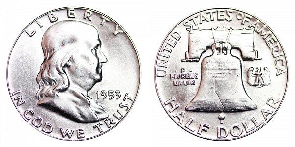 1953 Franklin Silver Half Dollar
