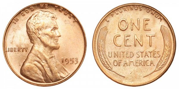 1953 Lincoln Wheat Cent Penny