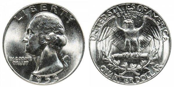 1953 Washington Silver Quarter