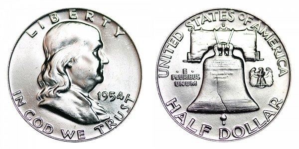 1954 D Franklin Silver Half Dollar