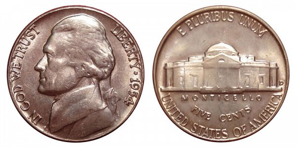 1954 D Jefferson Nickel