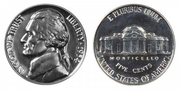 1954 Jefferson Nickel