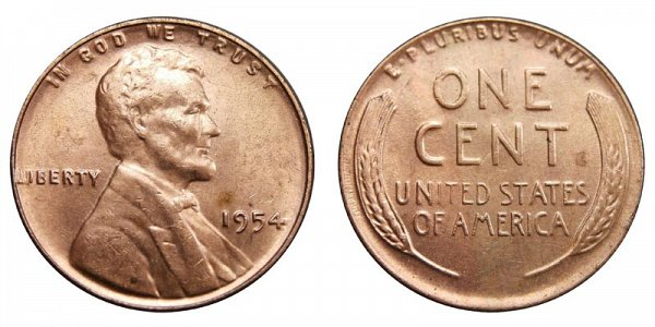 1954 Lincoln Wheat Cent Penny