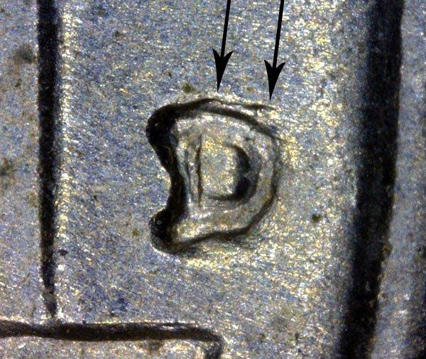 1955 D Over S D/S Jefferson Nickel