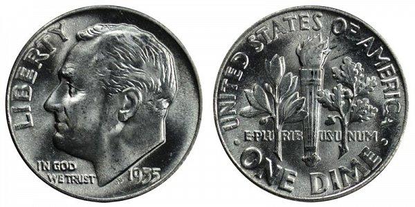 1955 Silver Roosevelt Dime