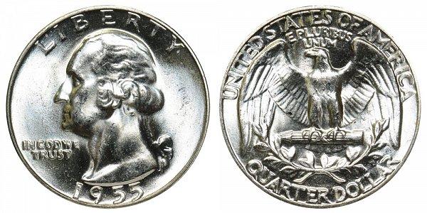 1955 Washington Silver Quarter