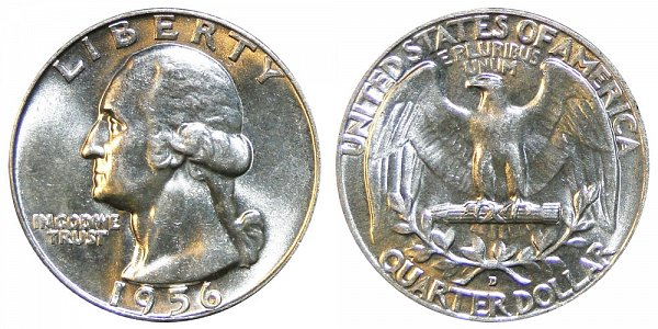 1956 D Washington Silver Quarter
