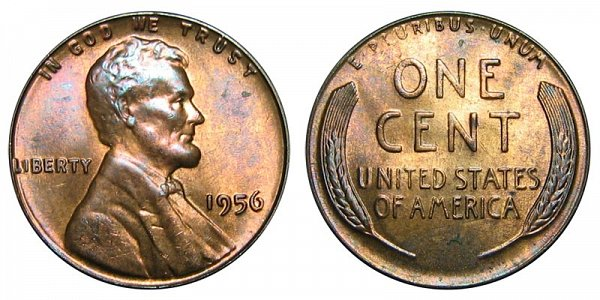 1956 Lincoln Wheat Cent Penny