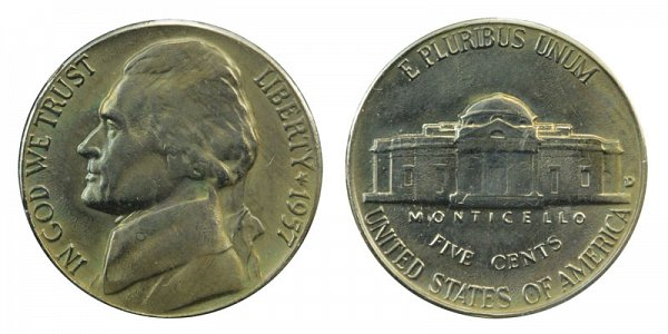 1957 D Jefferson Nickel