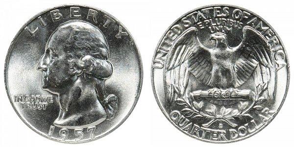 1957 D Washington Silver Quarter