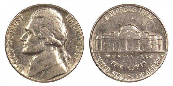 1957 Jefferson Nickel