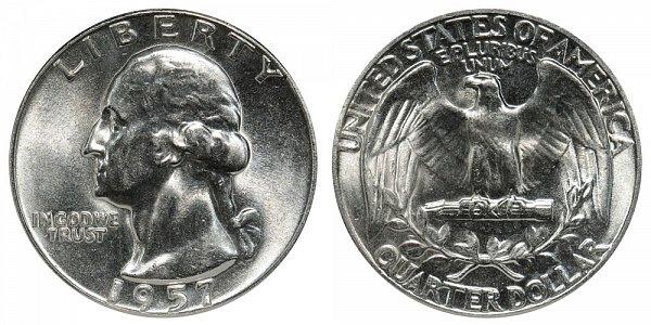 1957 Washington Silver Quarter