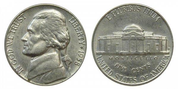 1958 D Jefferson Nickel