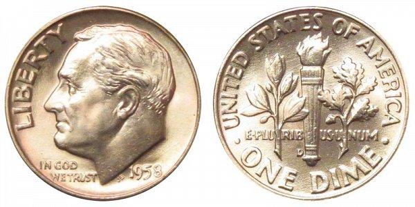 1958 D Silver Roosevelt Dime